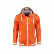 Lemon & Soda Oranje heren capuchon jasje nylon