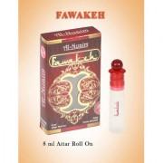 Al-Nuaim 8ML Fawakeh Attar 100 Original And Alcohol Free Concentrated Perfume Oil Scent For Men Women