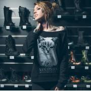 hoodie ženski BLACK CRAFT - Lucipurr - Crno - WCN001LR