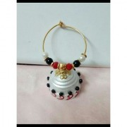 Paper Quilled jhumka White