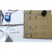 Working model on Hobby Science project of Water Level Indicator