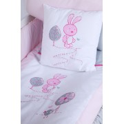 Set lenjerie 4 piese Little Bunny gri-pink Klups