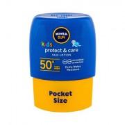 Nivea Sun Kids Protect & Care lozione waterproof per la protezione dal sole Sun Lotion SPF50+ 50 ml per bambini