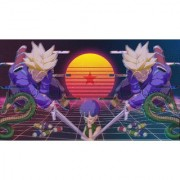 trunks and bulma sticker poster|dragon ball z poster|anime poster|size:12x18 inch|multicolor