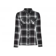 ESMARA® Flanellen hemd voor dames (34, zwart/wit)