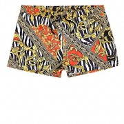 River Island Jaded - Gele zwemshort met zebraprint Heren