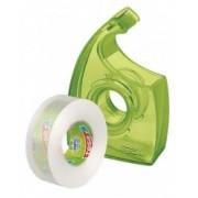 tesa Mini odvíjač na prst s 2ks číre pásky ECOaCLEAR, zelený, 10m x 19mm 58241-00000-00