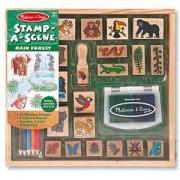 Комплект детски дървени печати - тропическа гора, 12423 Melissa and Doug, 000772124232