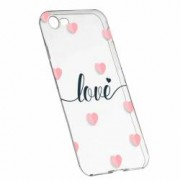Husa Silicon Transparent Slim Love Flying Hearts Apple iPhone 7 8