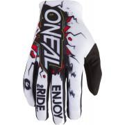 Oneal Matrix Villain 2 Youth Motocross Gloves White S