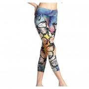Las Mujeres De Entrenamiento Deportivo 3/4 Pantalones De Fitness Yoga
