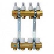 Distribuitor/colector alama cu debitmetre CAPRICORN 4 circuite Optimum 1 pentru incalzire in pardoseala