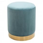 IDIMEX Tabouret pouf OMERO, en velours turquoise