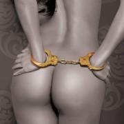 ESPOSAS FETISH FANTASY GOLD METAL CUFFS