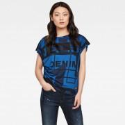 G-star RAW Femmes Haut Modernist Print Drawstring Bleu foncé