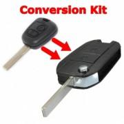 Carcasa telecomanda briceag transformare Peugeot / Citroen cu 2 butoane