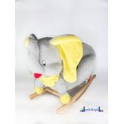 Njihalica ljuljaška SLON - sivo žuta
