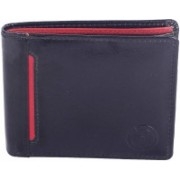 New Tareen Men Casual Blue Genuine Leather Wallet(3 Card Slots)