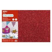 Moosgumi, 400x600 mm, glitteres, APLI Eva Sheets, piros (LCA13172)
