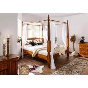 Bighome.cz Bighome - CAMBRIDGE HONEY postel s baldachýnem 160x200 cm, akácie