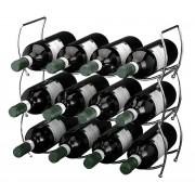 Ceruzo Stapelbaar wijnrek - 12 flessen - 3 delig