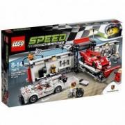 Конструктор Лего Спийд Шампиони - Питстоп за Порше 919 Hybrid и 917K - LEGO Speed Champions, 75876