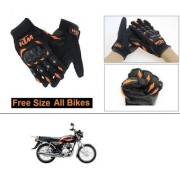 AutoStark Gloves KTM Bike Riding Gloves Orange and Black Riding Gloves Free Size For Yamaha Crux