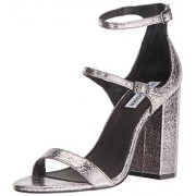 Steve Madden Women's Parrson Dress Sandal, Pewter, 5.5 M US