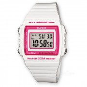 Reloj de los hombres de CASIO W-215H-7A2VDF - blanco + color de rosa (sin la caja)