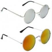 SRPM Aviator, Wayfarer Sunglasses(Silver, Yellow)