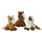 "Aurora Plush Dreamy Eyes Prancer Pony, Breeze, and Sundance Horses Set of 3 10"" Plush"