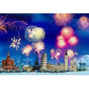 Puzzle Grafika Kids - New Year's Eve around the World, 100 piese (63489)