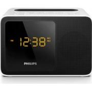 Radio cu ceas Philips AJT5300W12 FM Bluetooth 2.7W port de încărcare USB Alb si Negru