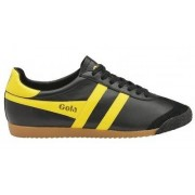 Gola Classics - Harrier 50 Leather Sneakers - Zwart/ Geel