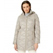 MICHAEL Michael Kors Packable Puffer Jacket with Diamond Quilt M824120TZ Taupe