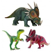 Schleich World Of History Dinosaur Set 42281 Velociraptor Pentaceratops & Styracosaurus