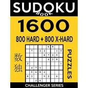 Sudoku Book 1,600 Puzzles, 800 Hard and 800 Extra Hard: Bargain Size Sudoku Puzzle Book With Two Levels of Difficulty To Improve Your Game, Paperback/Sudoku Book