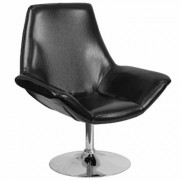 Flash Furniture Leather Reception Chair - Black, 32.5Inch W x 29Inch D x 37.5Inch H, Model CH102242BK