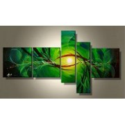 EVA JEKINS Tableaux design vert Abstrait Green Five