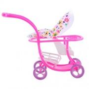 Anbau High Quality Plastic Mini Baby Doll Stroller Push Car Dolls Trolley Furniture Room Item for Barbie Dolls