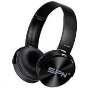 SPN SP-009 Adjustable Wireless Headphones with Extra Bass - Black