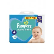Scutece Pampers Active Baby Maxi 4 Giant Pack, 8-14 kg, 76 buc