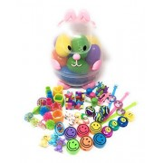 Easter Egg Hunt Basket Filled With 18 Colorful Eggs ~ Easter Kit Comes Filled With A Toy Surprise In Each Egg!! (Pink Bunny)