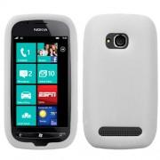 Funda Silicon Nokia Lumia 710 700 Blanco