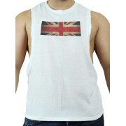 Good Boy Gone Bad UK C Muscle Top T Shirt White