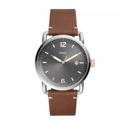 Часовник FOSSIL - The Commuter 3H Date FS5417 Brown/Silver