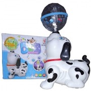 OH BABY BABY 3D LIGHT DOG AND MUSICAL POWER WITH AUTOMATIC SENSOR WHITE COLOR DOG FOR YOUR KIDS SE-ET-02
