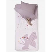 VERTBAUDET Conjunto pronto-a-dormir com edredon, tema Fada rosa claro liso com motivo