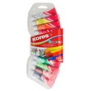 Tempera készlet, 12 ml, KORES, 12 különböző szín (IK72412)