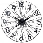 Zegar ścienny metalowy duży KOŁO ROWER loft 60 cm